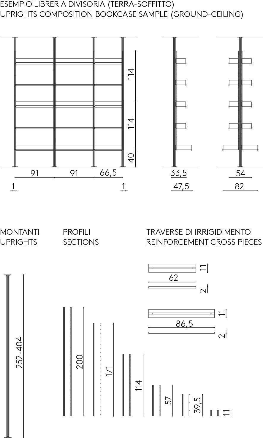 Estante Secional De Alum Nio Extrudado 606 Universal Shelving System