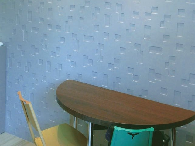 Modular indoor gypsum 3D Wall Panel CL12 «ONDES» By Staff Décor