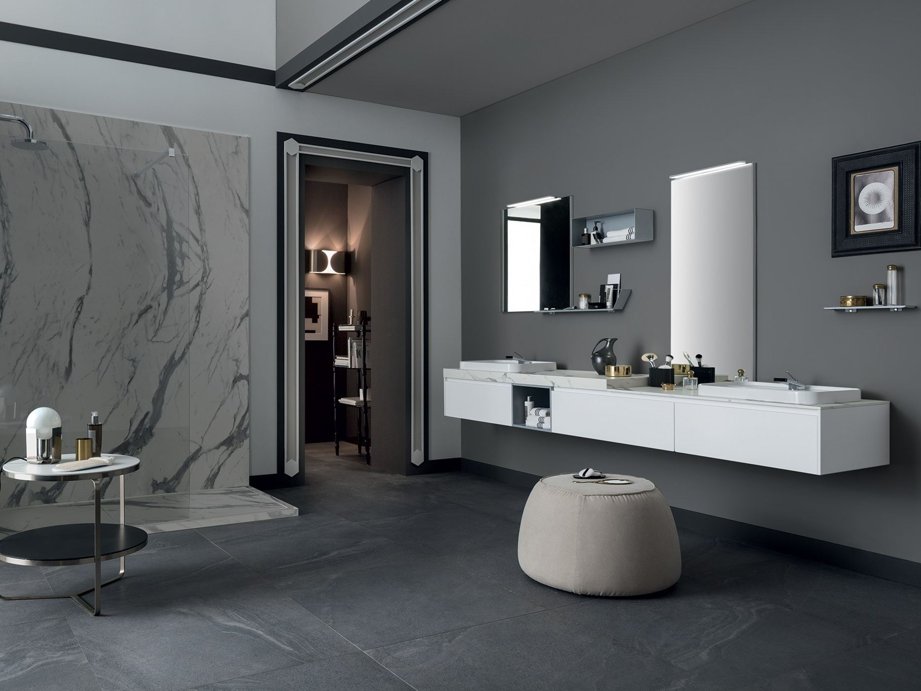 double washbasin countertop 85 - 3.0 by rab arredobagno - Arredo Bagno Rab
