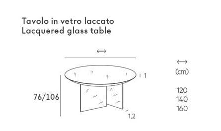 AIR | Runder Tisch Kollektion Air By Lago Design Daniele Lago