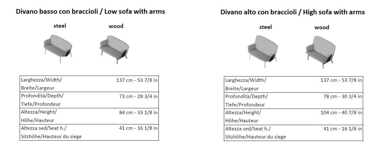 ALA | Divano a 2 posti Collezione Ala By La Cividina design ...