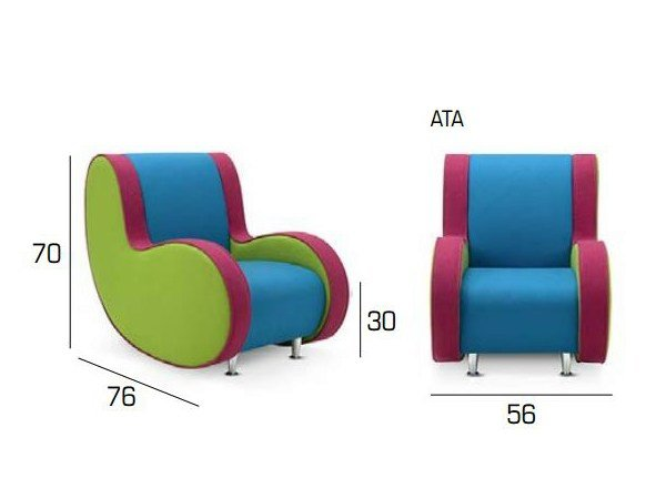Ata Baby Kids Armchair By Adrenalina Design Simone Micheli - Baby-collection-by-adrenalina