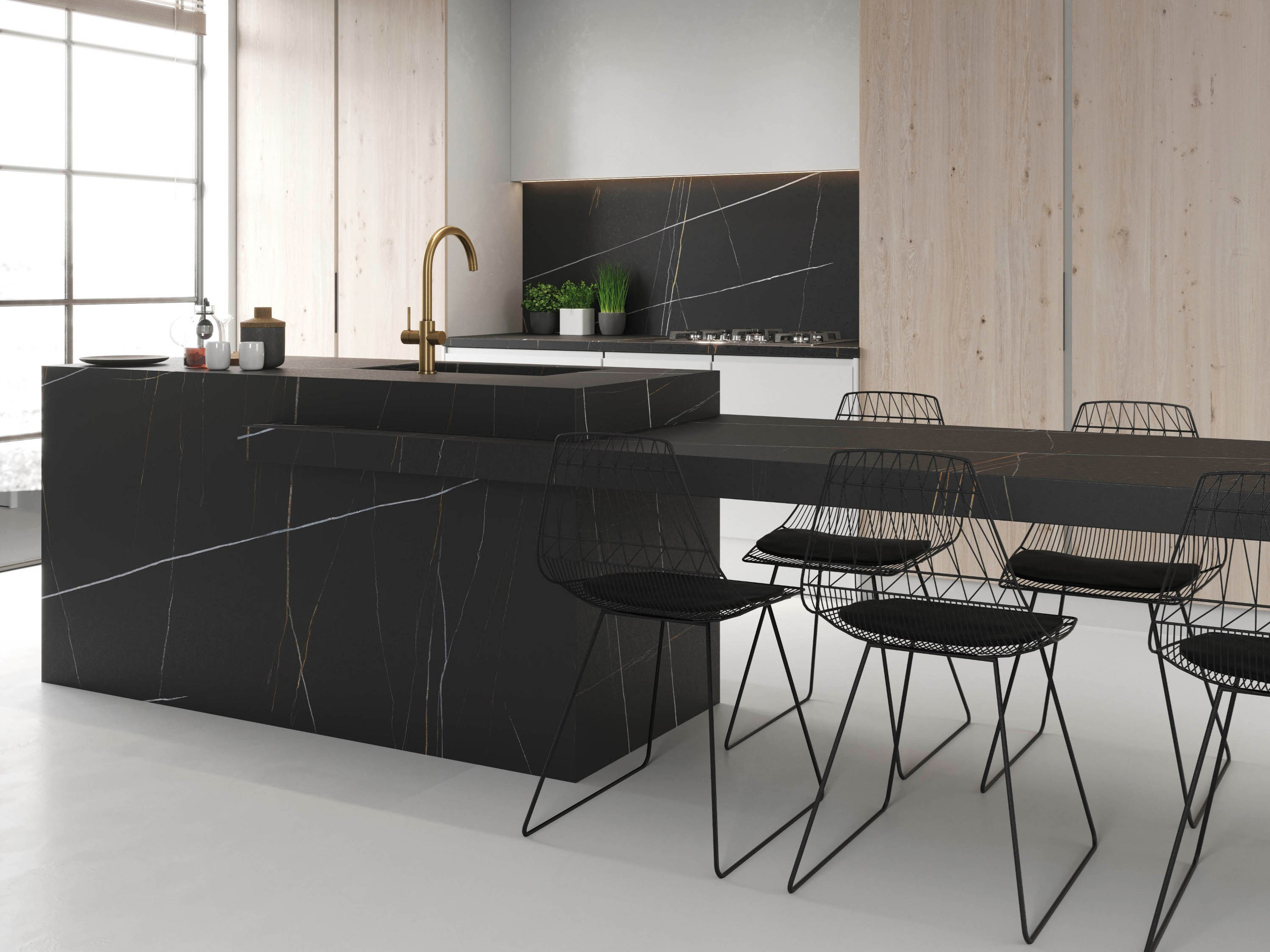 Porcelain stoneware kitchen worktop azalai itopker by inalco - Top cucina in ceramica ...
