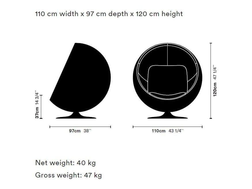 Dimensions BALL CHAIR