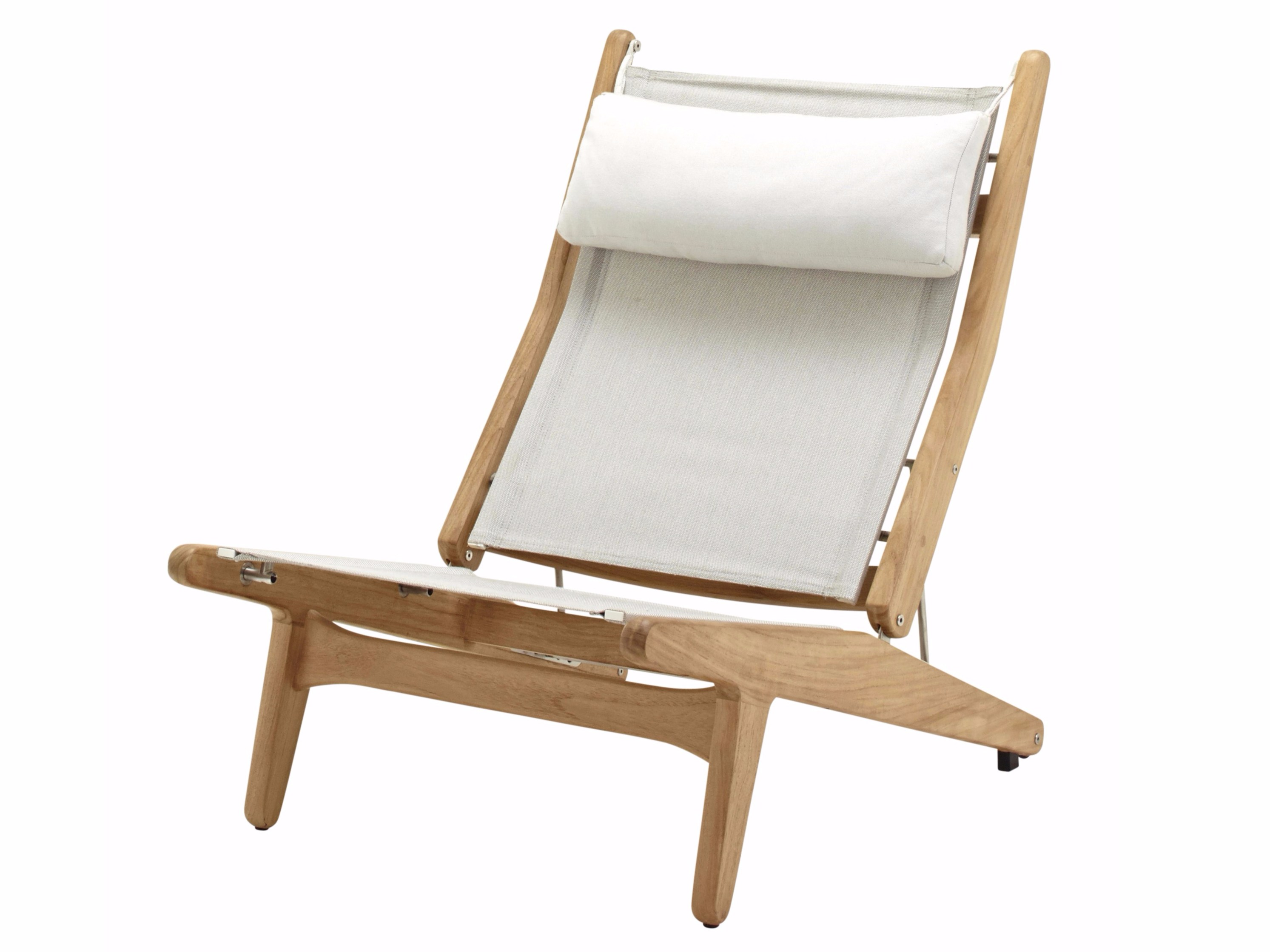 Recliner synthetic fabric deck chair ELLE By Ethimo