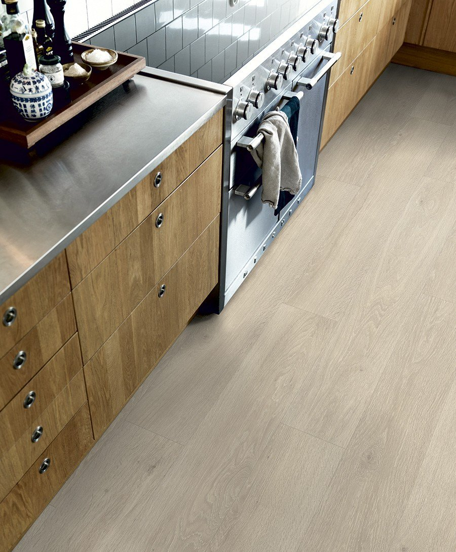 Vinyl Flooring Beige Washed Oak By Pergo