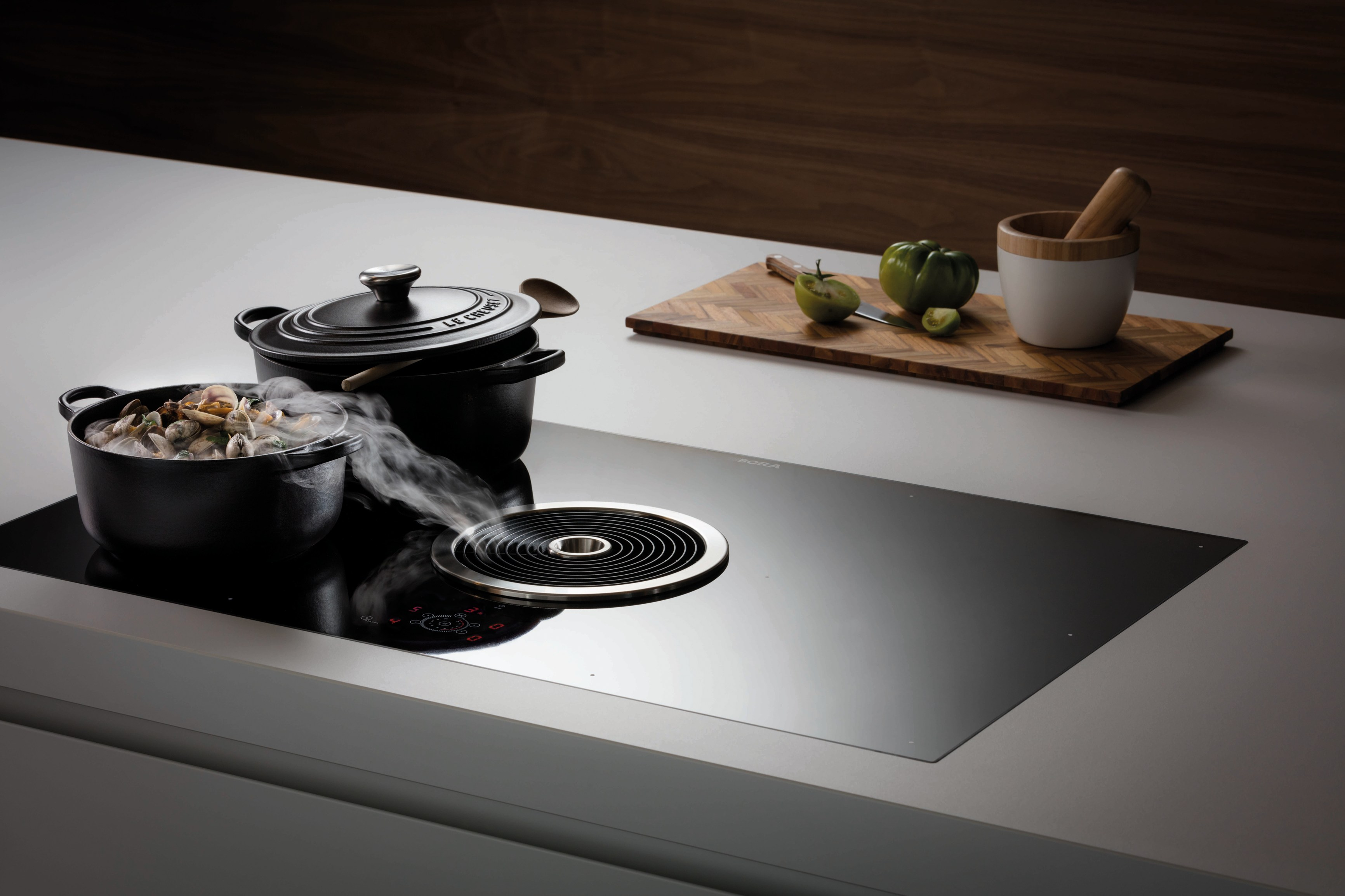 surface induction glass ceramic cooktop bfia bora basic line by bora. Black Bedroom Furniture Sets. Home Design Ideas