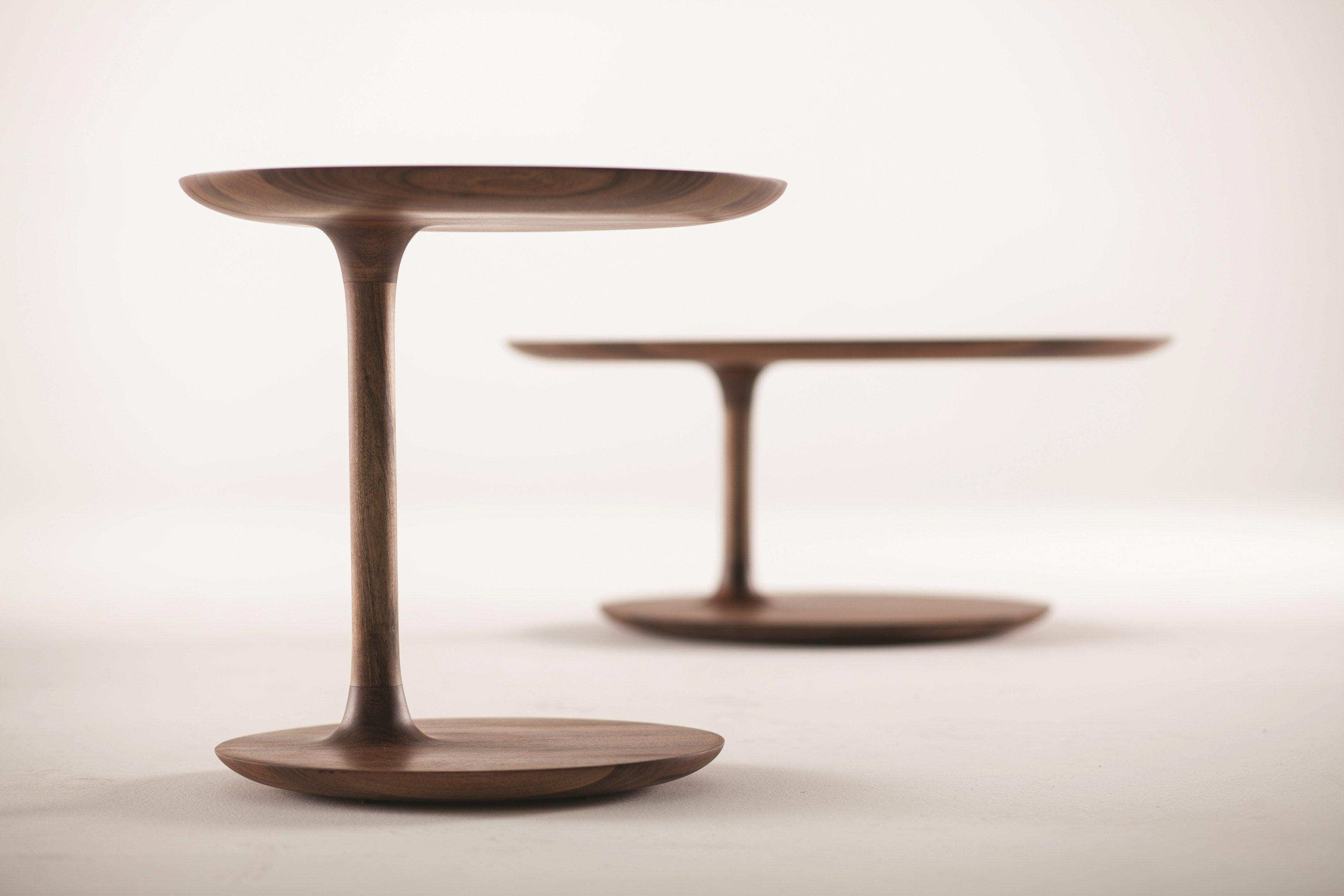 Niedriger Runder Couchtisch Aus Holz BLOOP By Artisan Design Rudjer  Novak Mikulic, Marija Ruzic