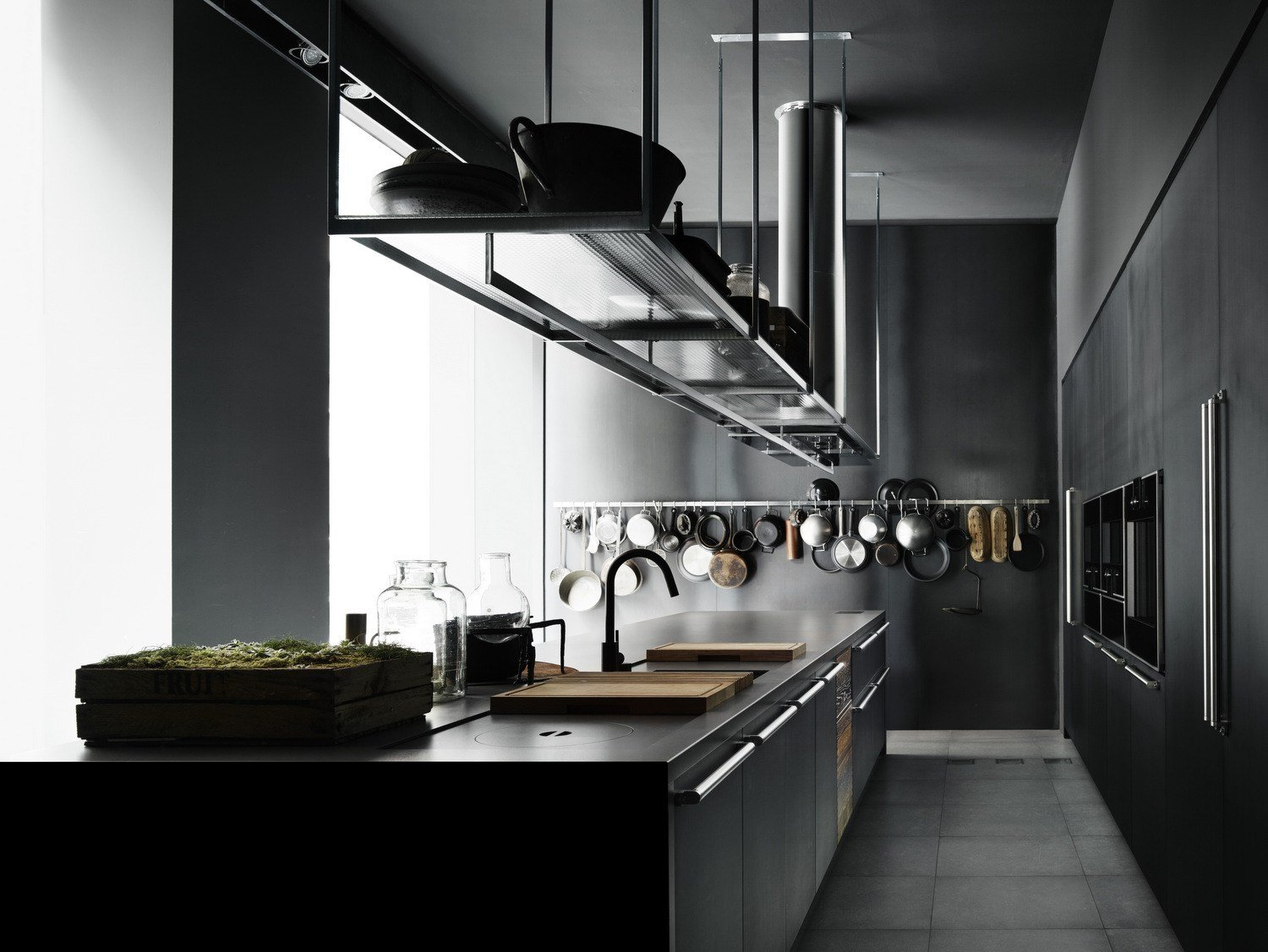 Fitted kitchen with island BOFFI CODE KITCHEN By Boffi design Piero Lissoni