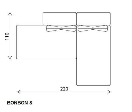 Dimensions BON BON | Sofa ...