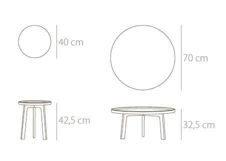 Breda Round Coffee Table By Punt Design Borja Garcia
