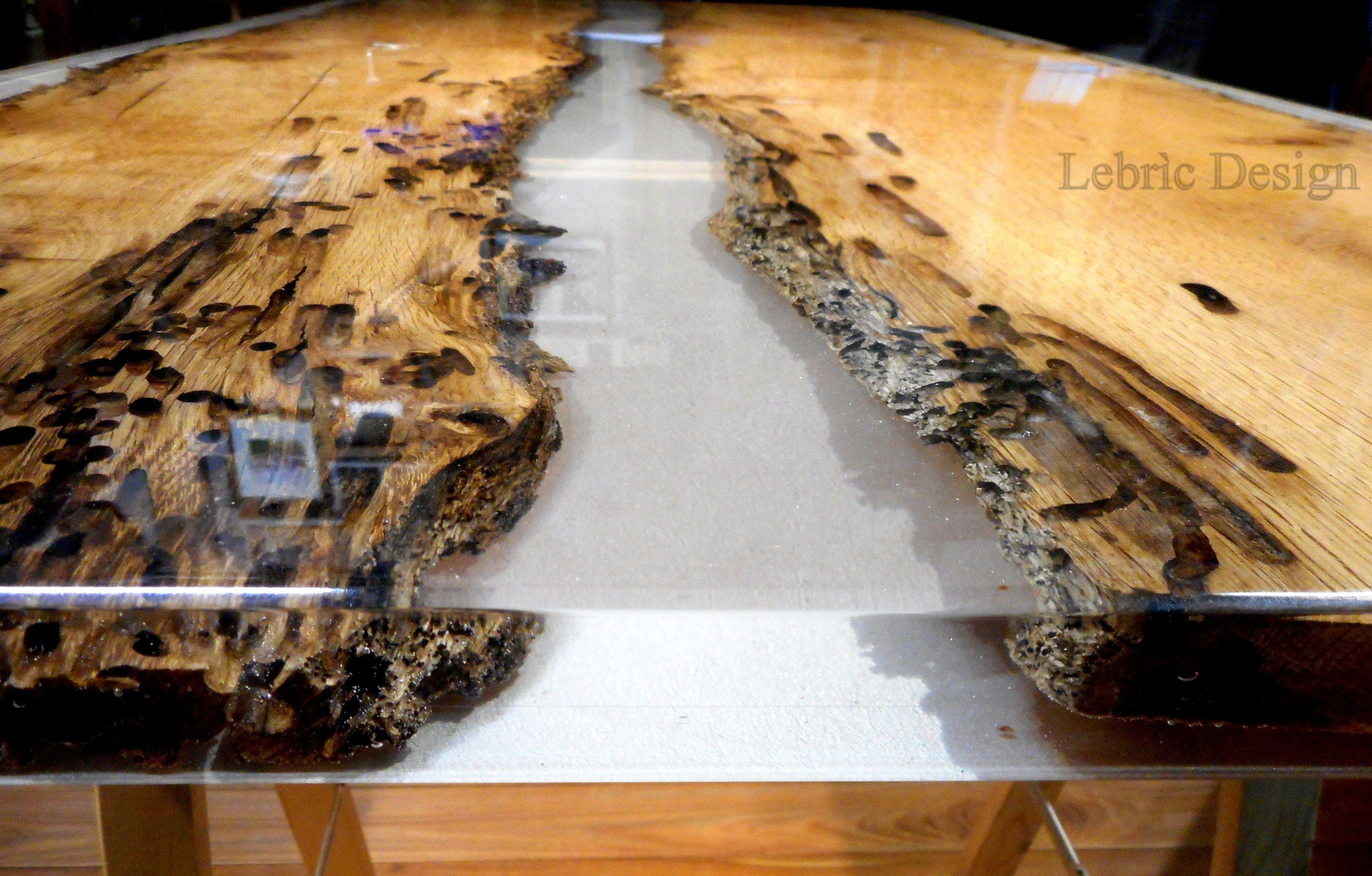 Briccola e resina tavolo da pranzo by antico trentino for Tavolo legno resina