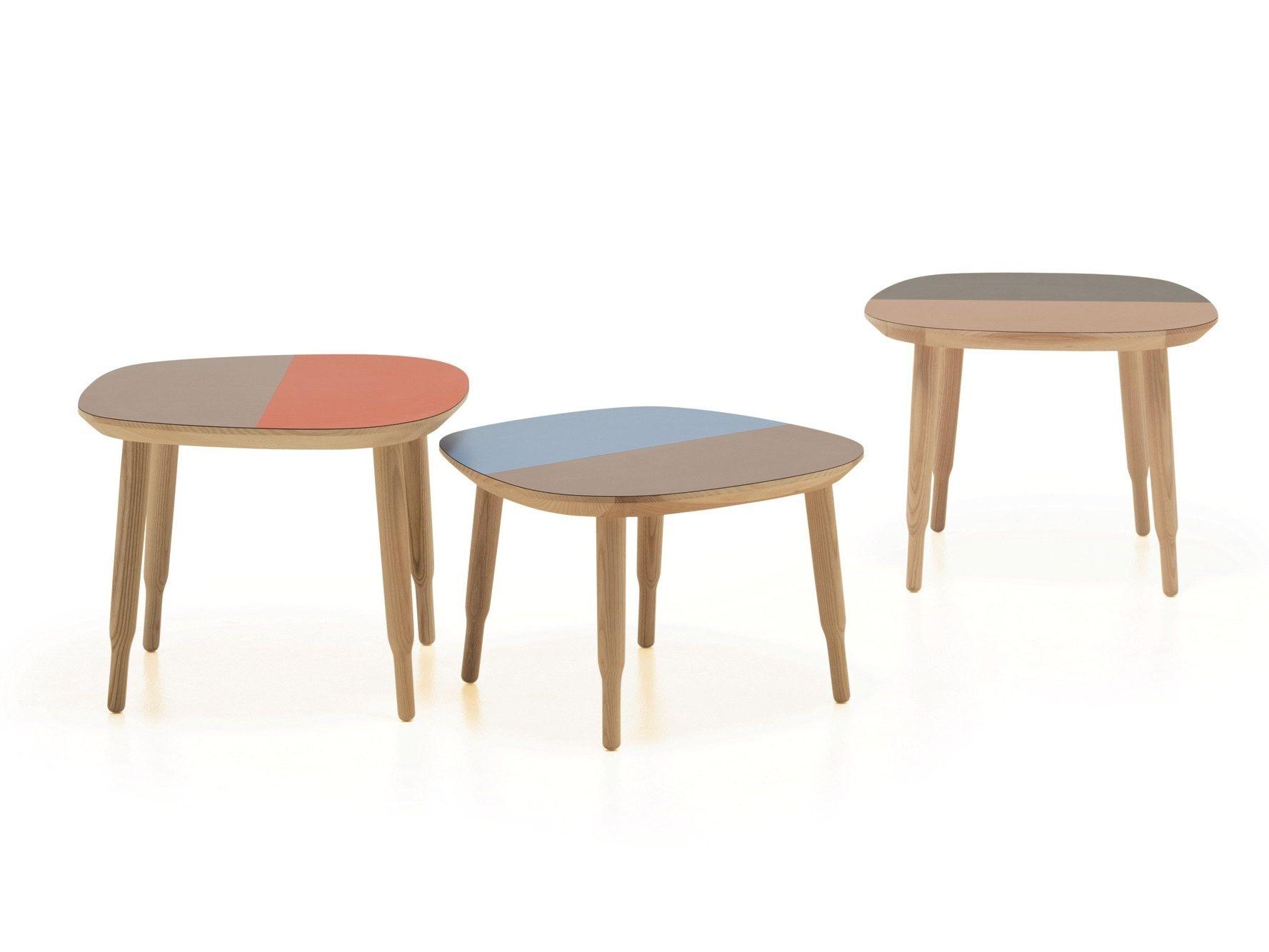 Ash bench coffee table LINE BENCH By La Cividina design Luca Botto
