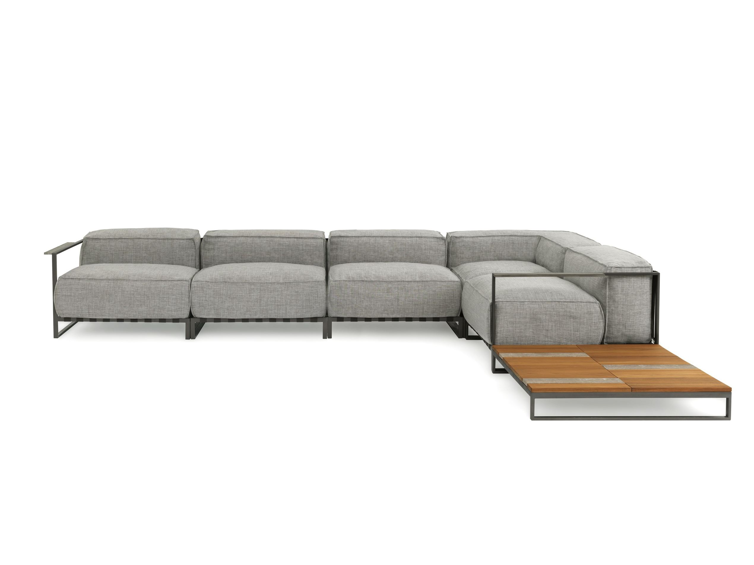 Corner sectional fabric sofa CASILDA