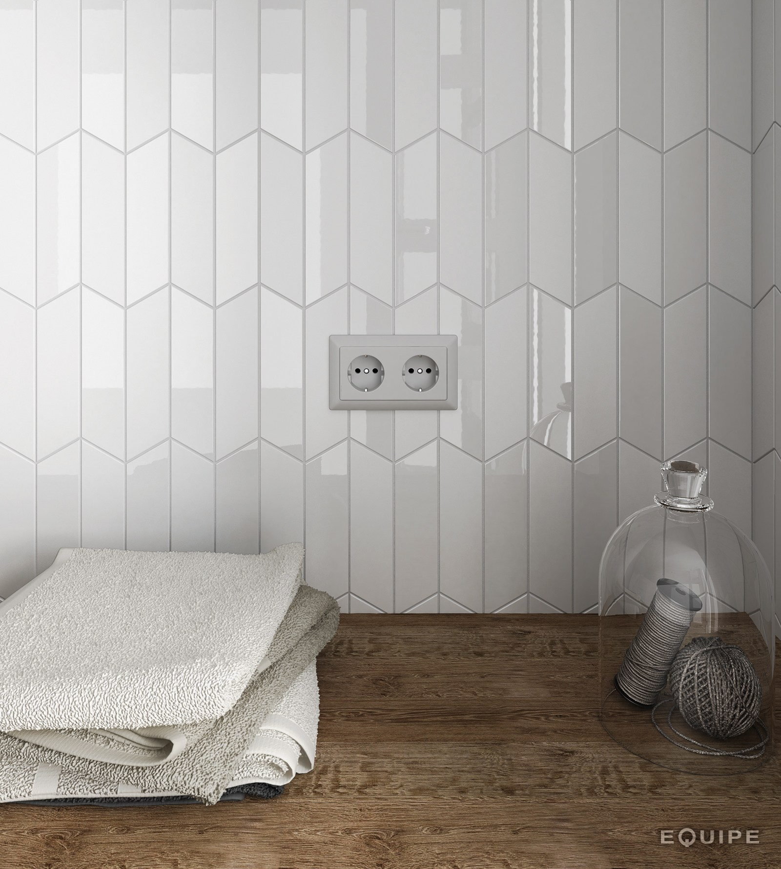 Chevron Wall By Equipe Ceramicas
