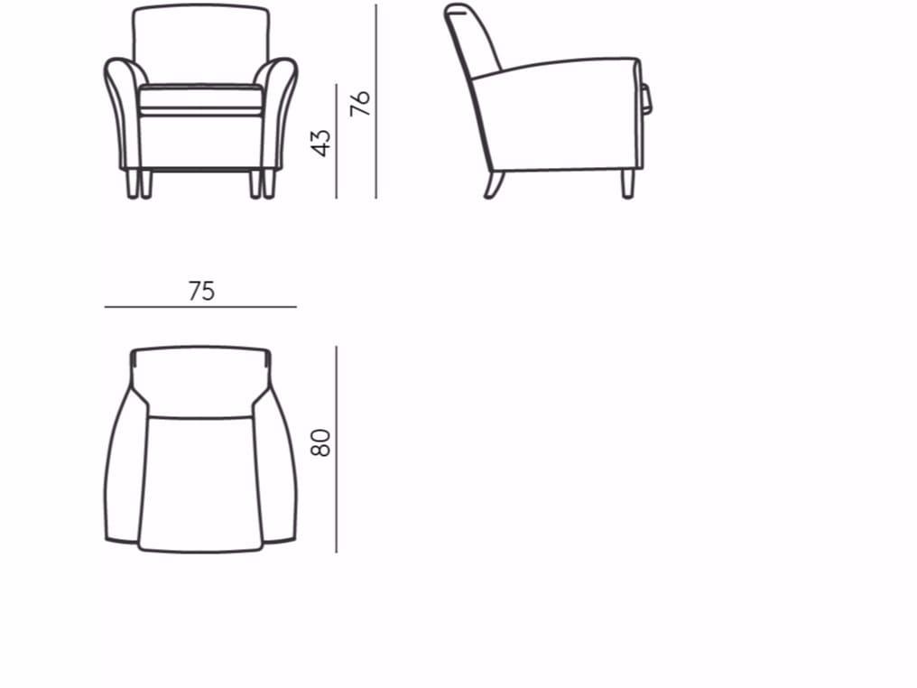 poltrona club imbottita in tessuto con braccioli club by de padova design vico magistretti. Black Bedroom Furniture Sets. Home Design Ideas