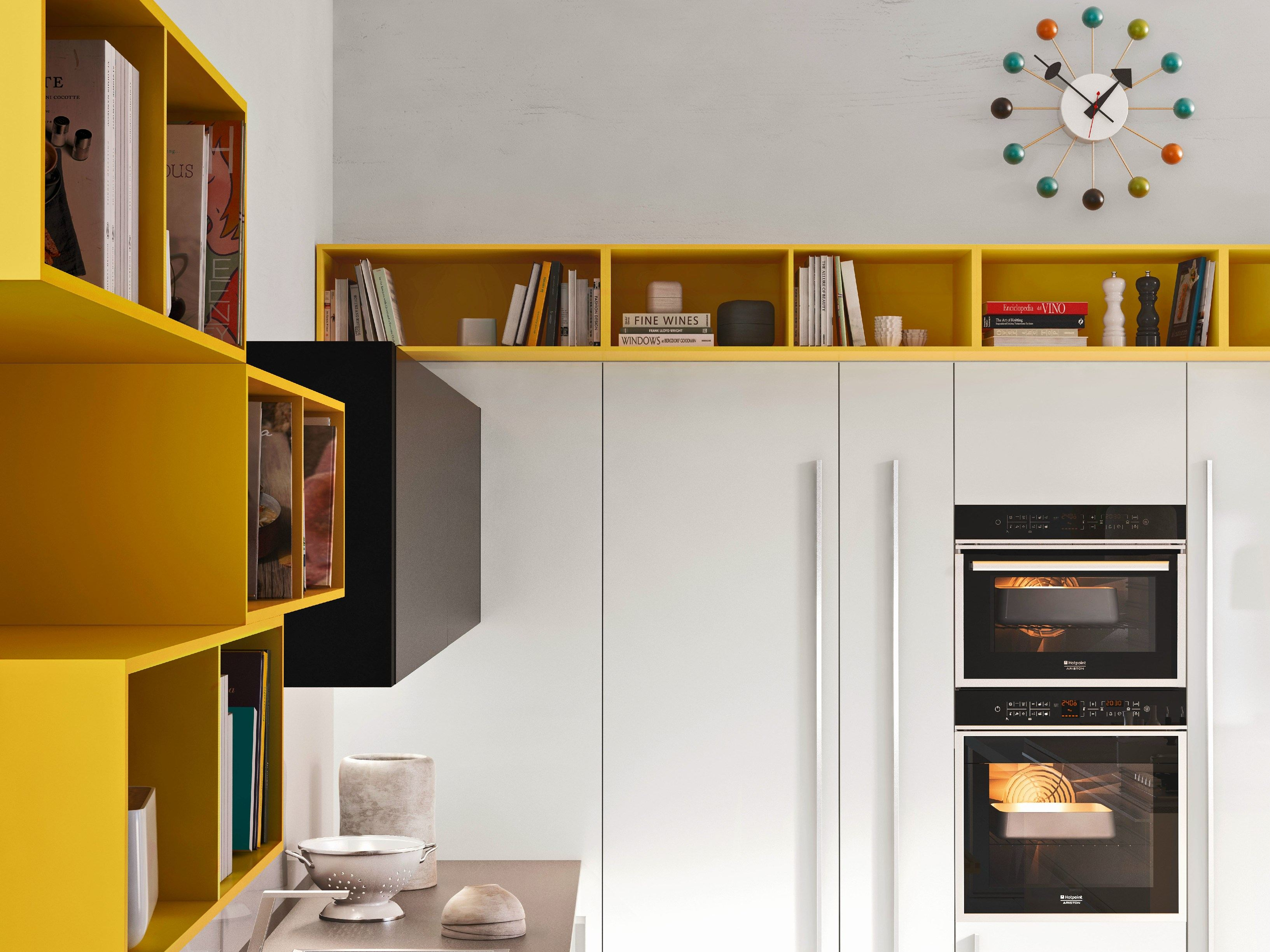 Code kitchen with island sistema collection by snaidero - Cucina code snaidero ...