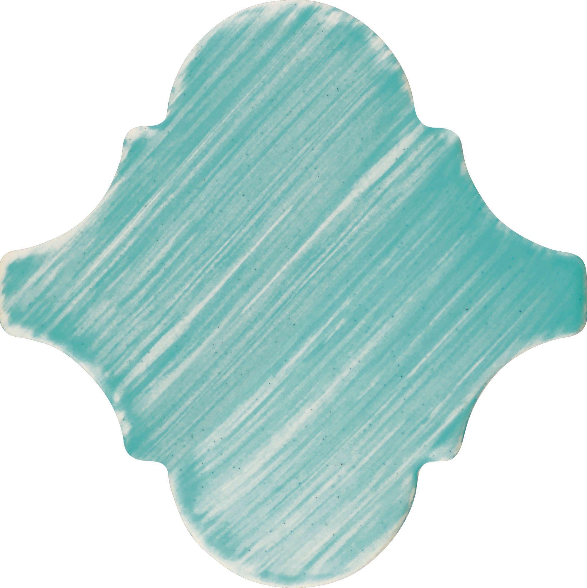 PF018 Color Art Plain Blue Arabesque