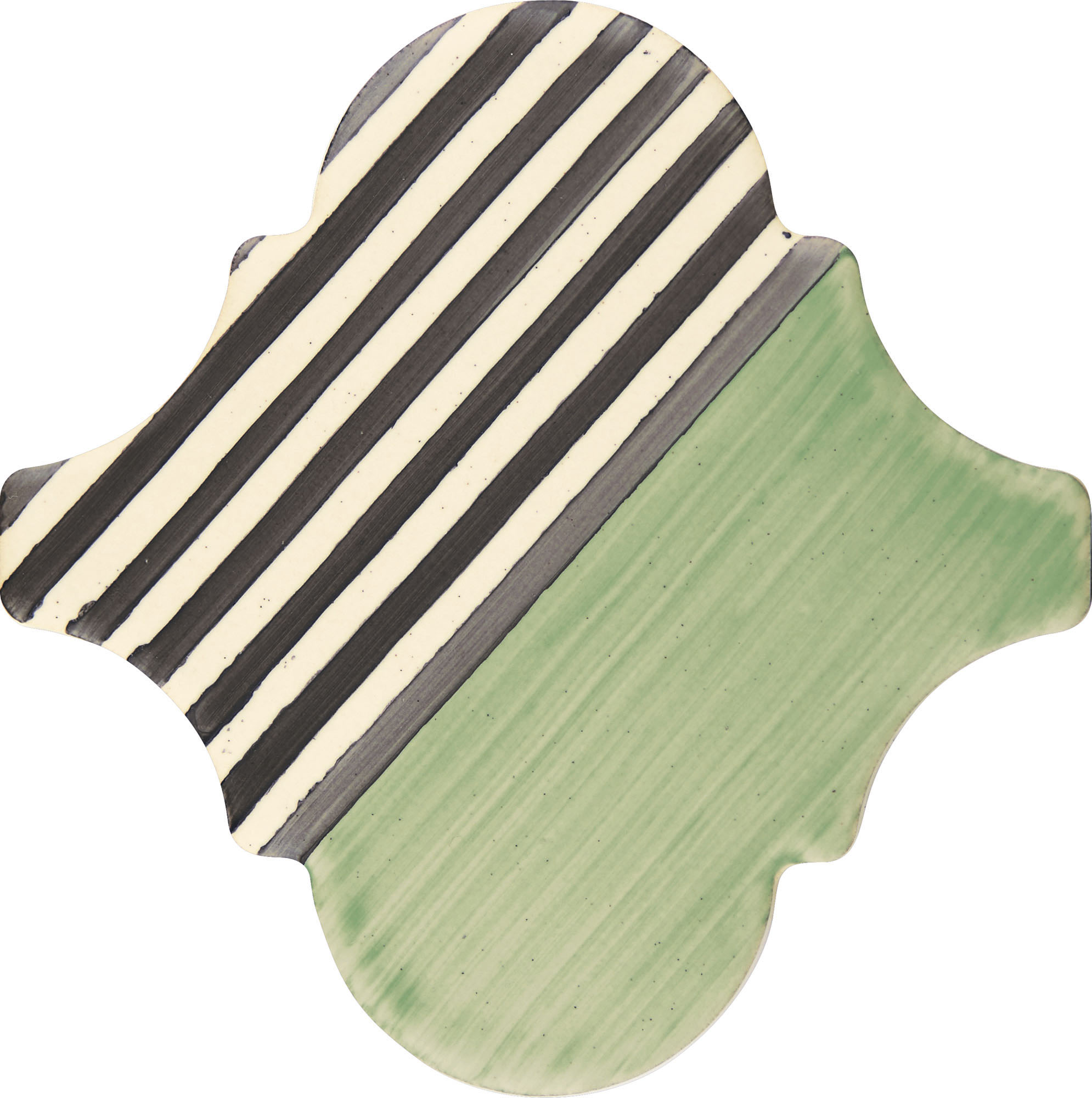 PF009 Color Art Green Stripes Arabesque