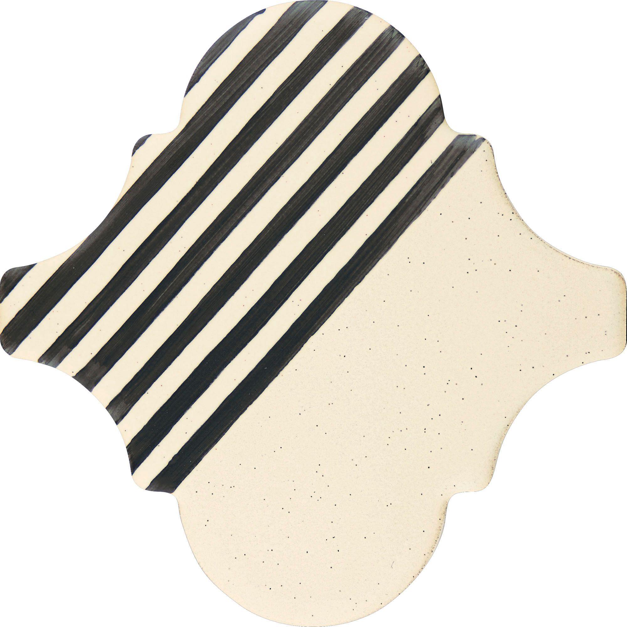 PF007 Color Art White Stripes Arabesque
