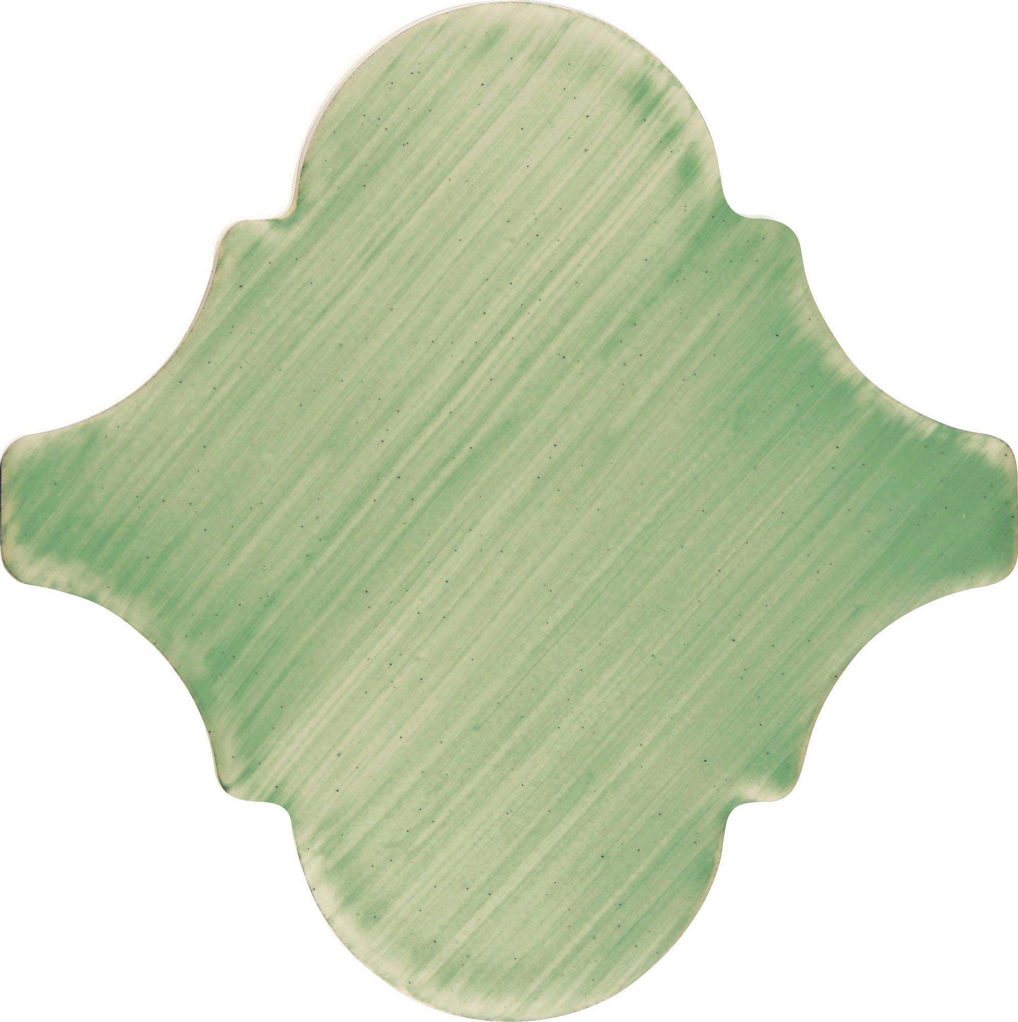 PF019 Color Art Plain Green Arabesque