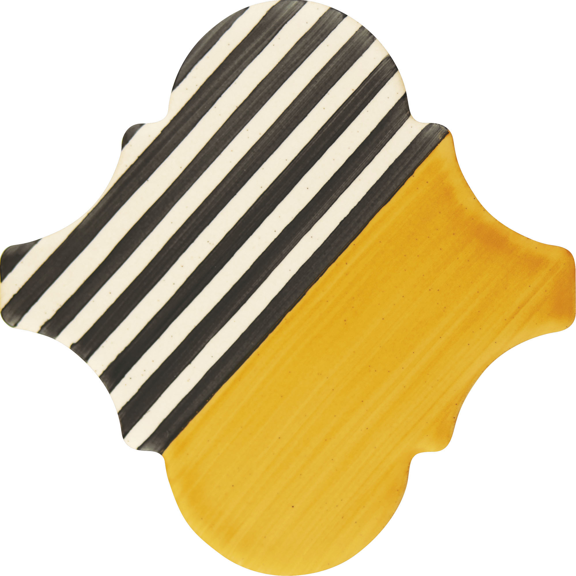 PF008 Color Art Yellow Stripes Arabesque