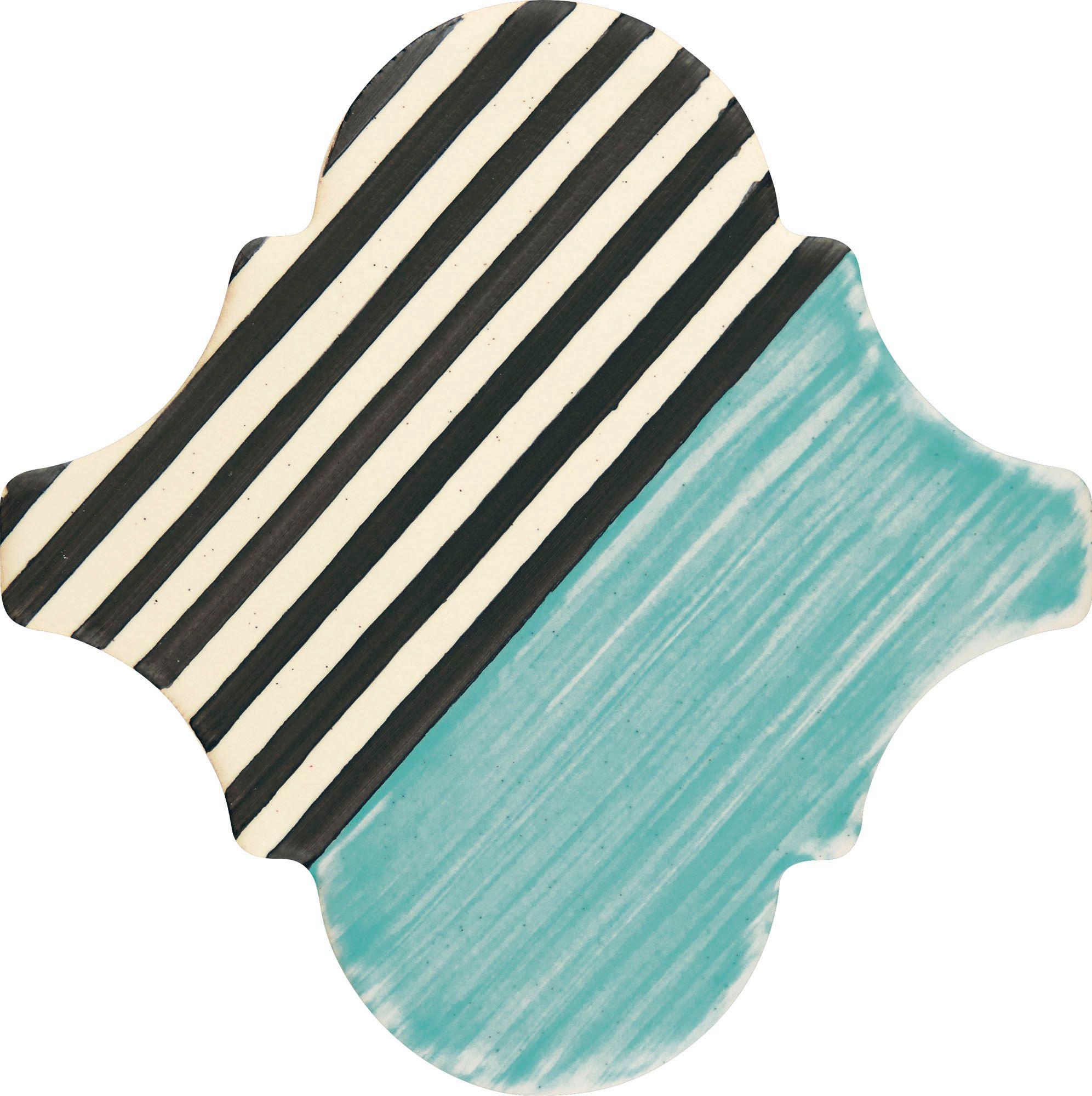 PF010 Color Art Blue Stripes Arabesque