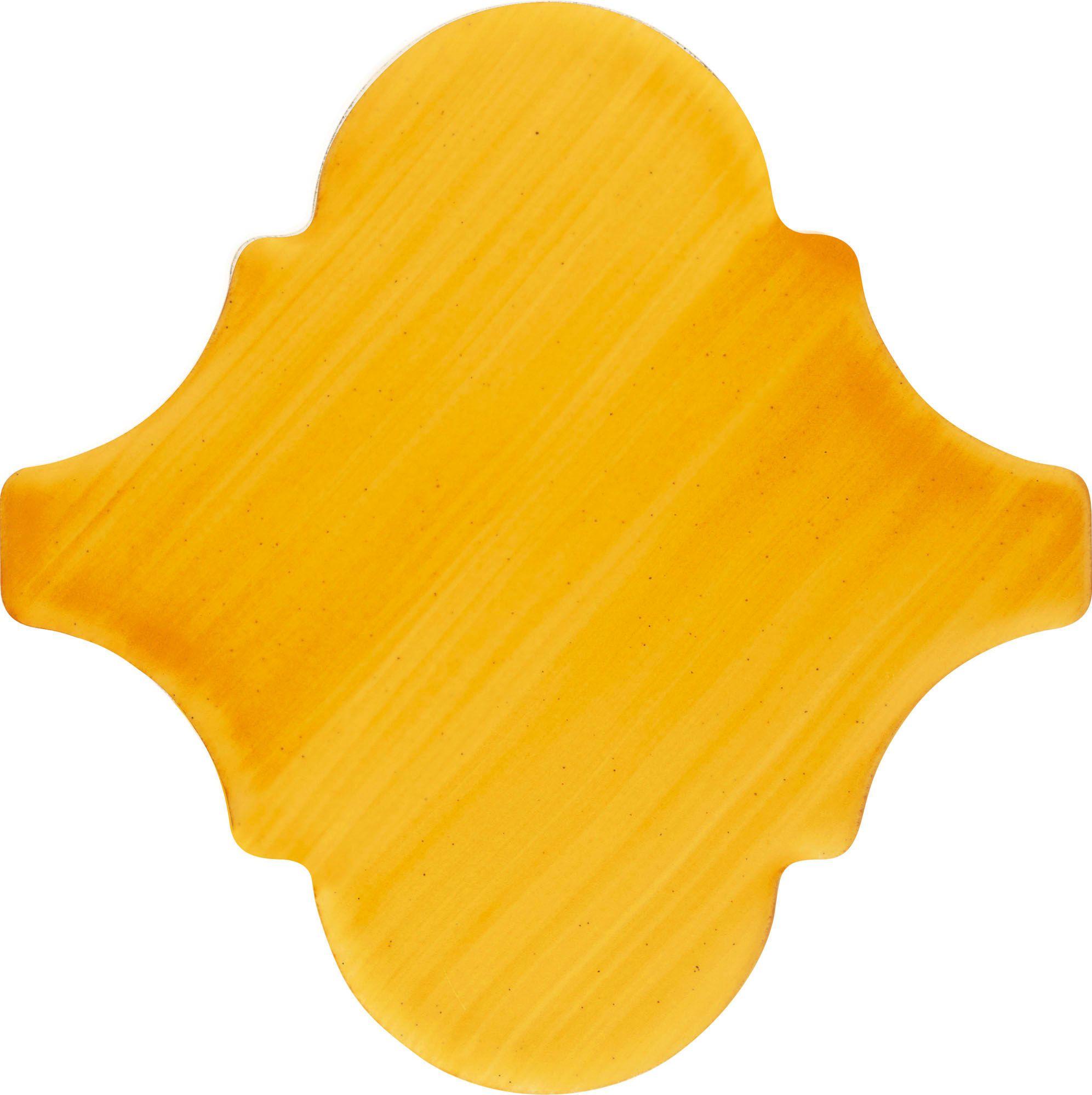 PF020 Color Art Plain Yellow Arabesque