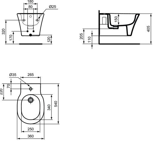 Wall Hung Ceramic Bidet Connect Air Wall Hung Bidet Connect Air Collection By Ideal Standard Design Robin Levien