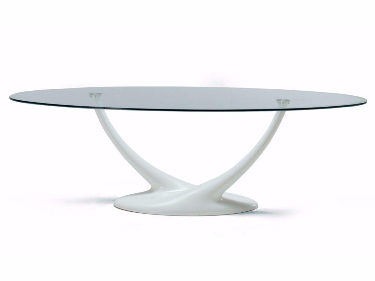 Tavolo ovale in cristallo CORAL by Cattelan Italia design Andrea Lucatello