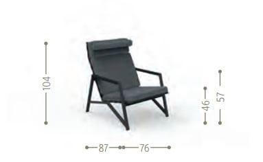 Dimensions COTTAGE | Garden armchair