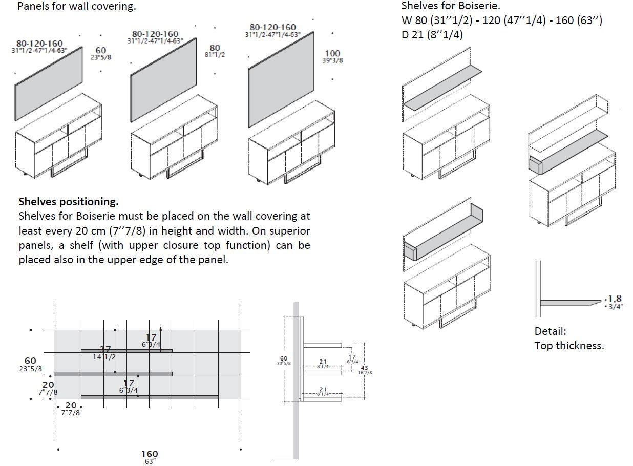 Modulares Sideboard CREDENZE By ESTEL GROUP