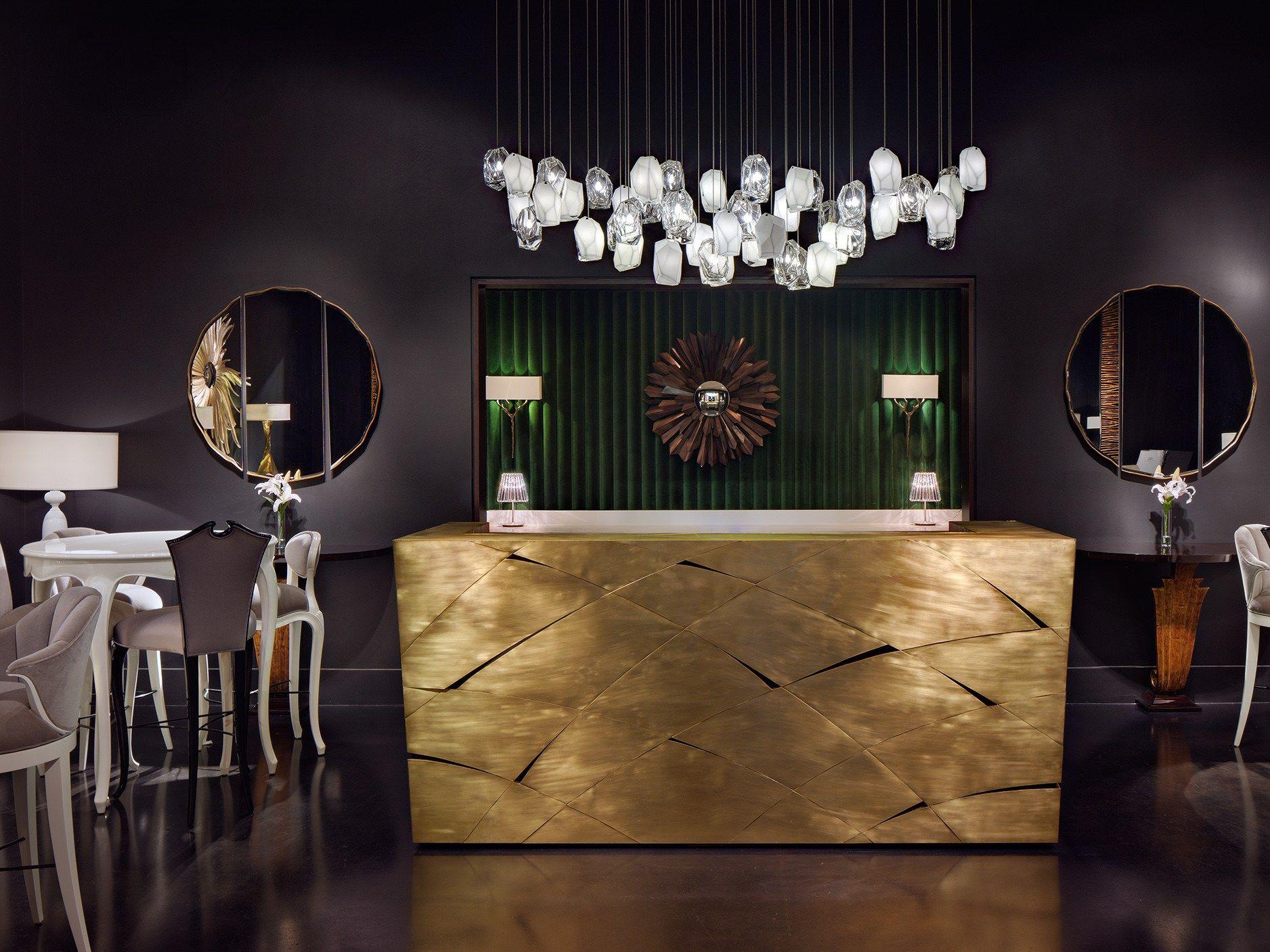 l mpara colgante de vidrio soplado crystal rock by lasvit dise o arik levy. Black Bedroom Furniture Sets. Home Design Ideas
