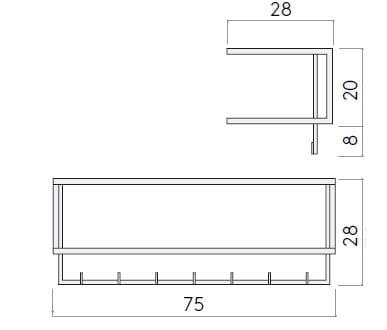 Dimensions GRID | Coat Rack