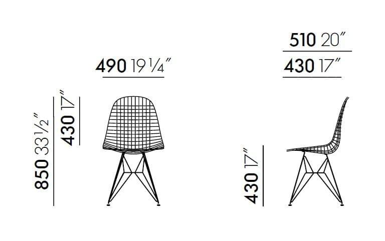 Stuhl aus Metall DKR-2 Kollektion Wire Chair By Vitra Design ...