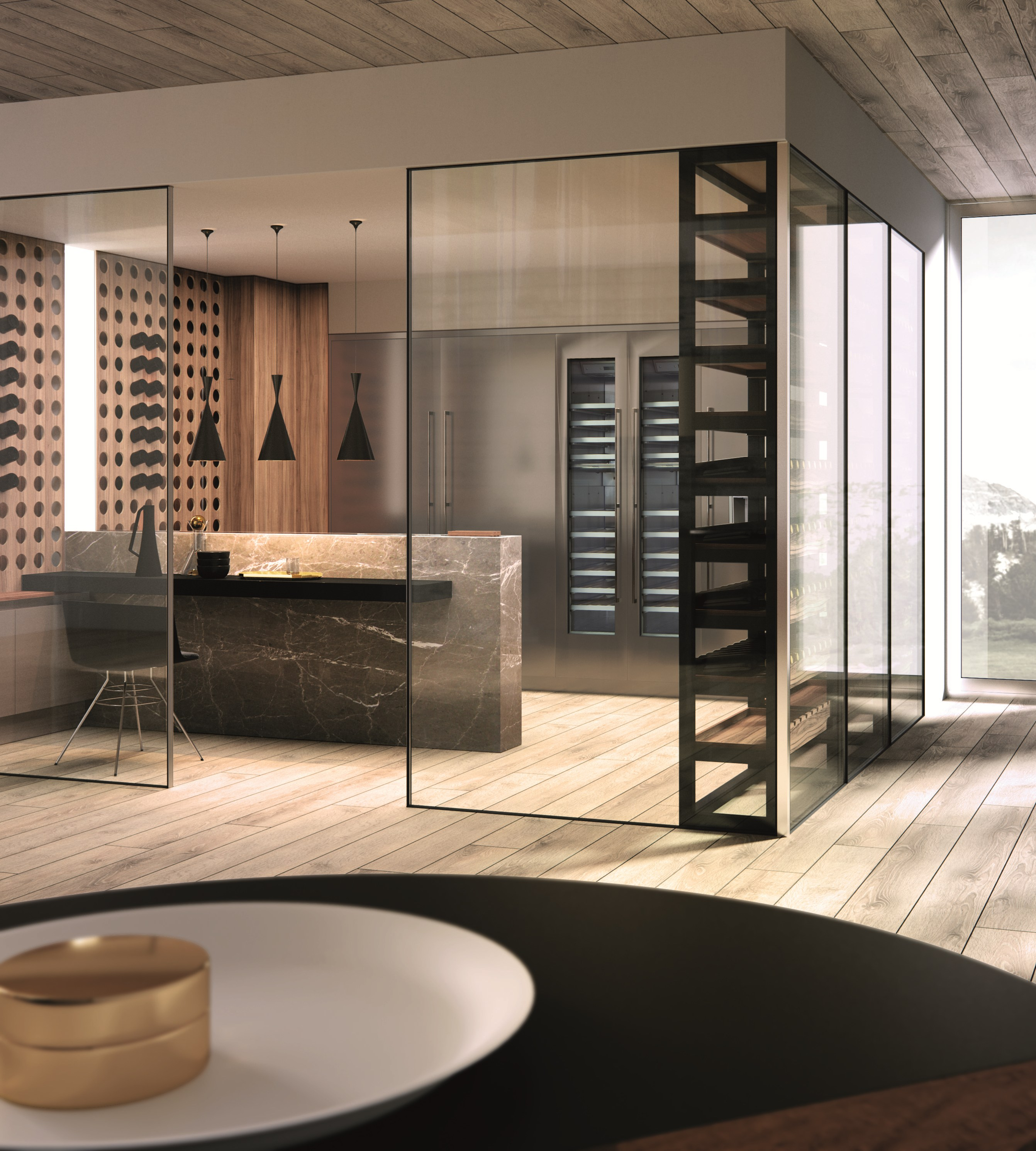 Aster Cucine Spa. Set For Kitchen With Figure Domina Laccato ...