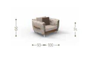 Dimensions DOMINO | Garden armchair