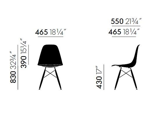 DSW | Upholstered chair Eames Plastic Side Chair Collection By Vitra ...