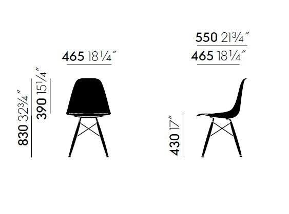 Dsw Stuhl Mit Integriertem Kissen Kollektion Eames Plastic Side