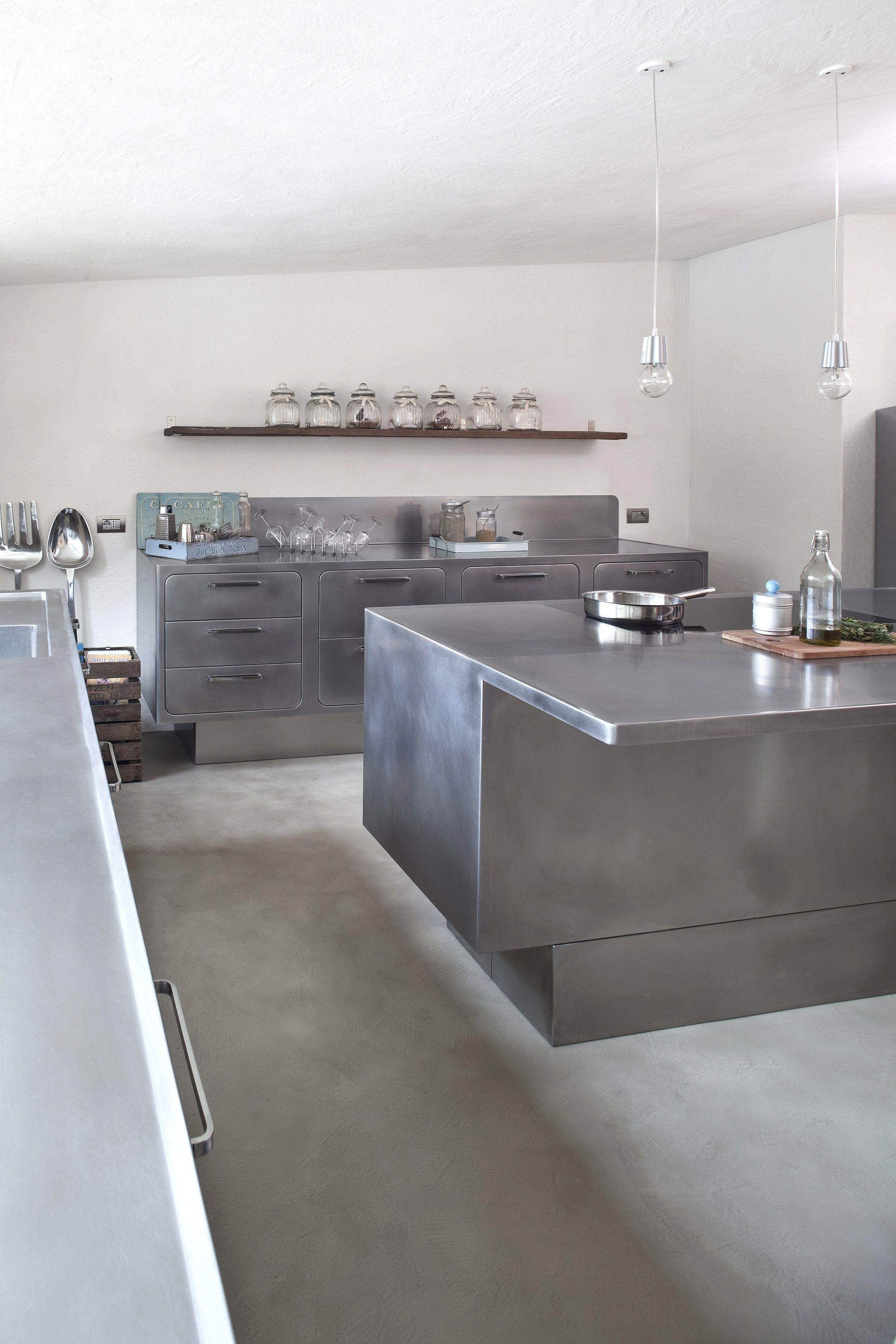 Küche aus Edelstahl für Gewerbe EGO By ABIMIS Design Alberto Torsello | {Edelstahlplatte küche 3}
