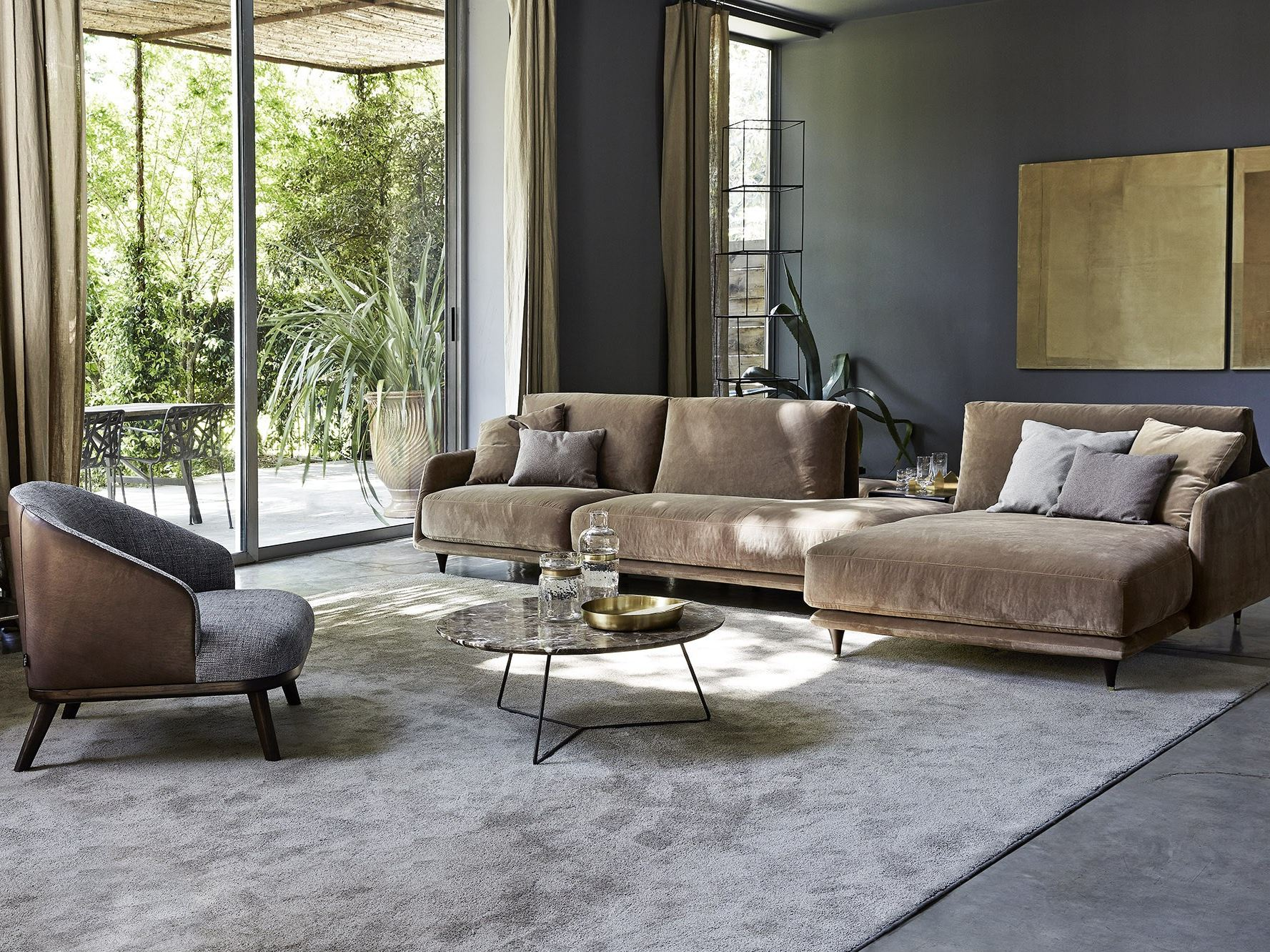 Elliot divano con chaise longue by ditre italia design for Idee salotto