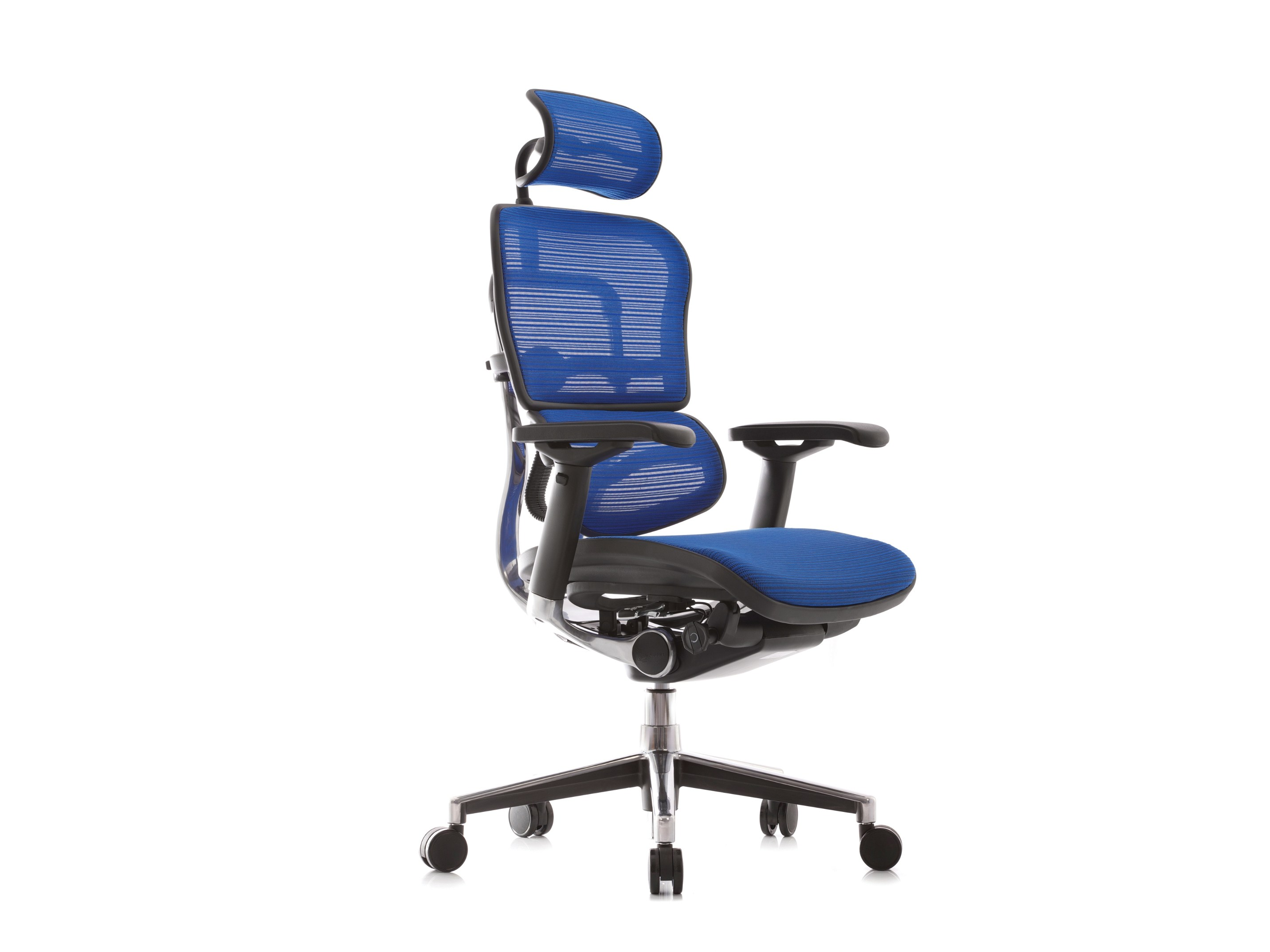 Swivel task chair with 5 Spoke base with armrests GENIDIA By