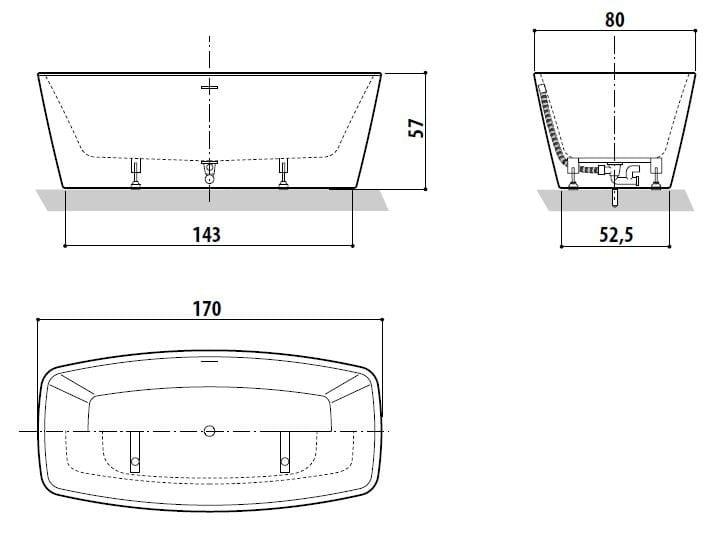 dimension baignoir finest baignoire duune dimension classique dans laquelle se trouve un espace. Black Bedroom Furniture Sets. Home Design Ideas