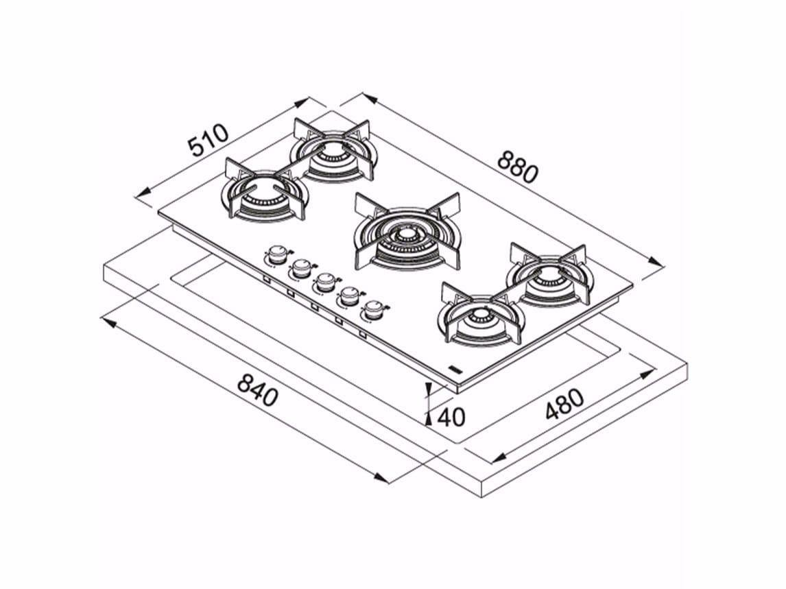 Dimensioni Piano Cottura 4 Fuochi – Idee immagine mobili