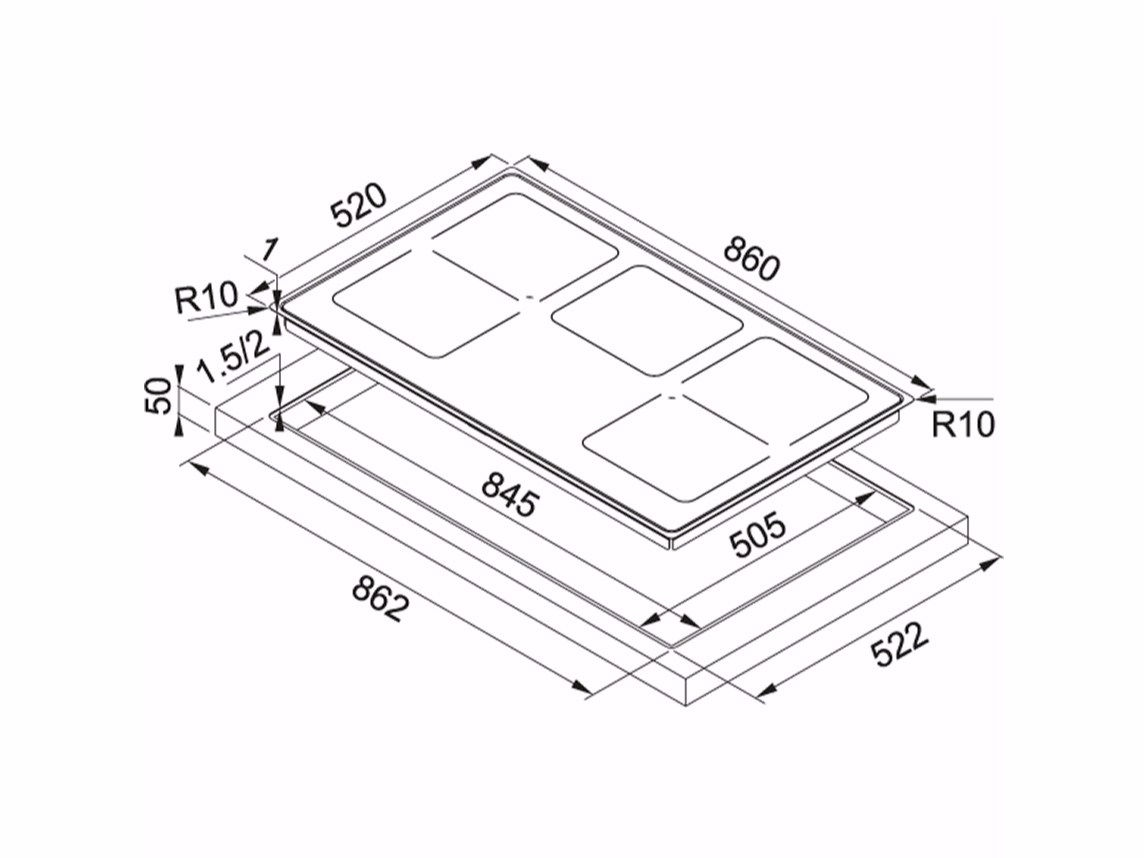 Piano Cottura Induzione Misure – Idee immagine mobili