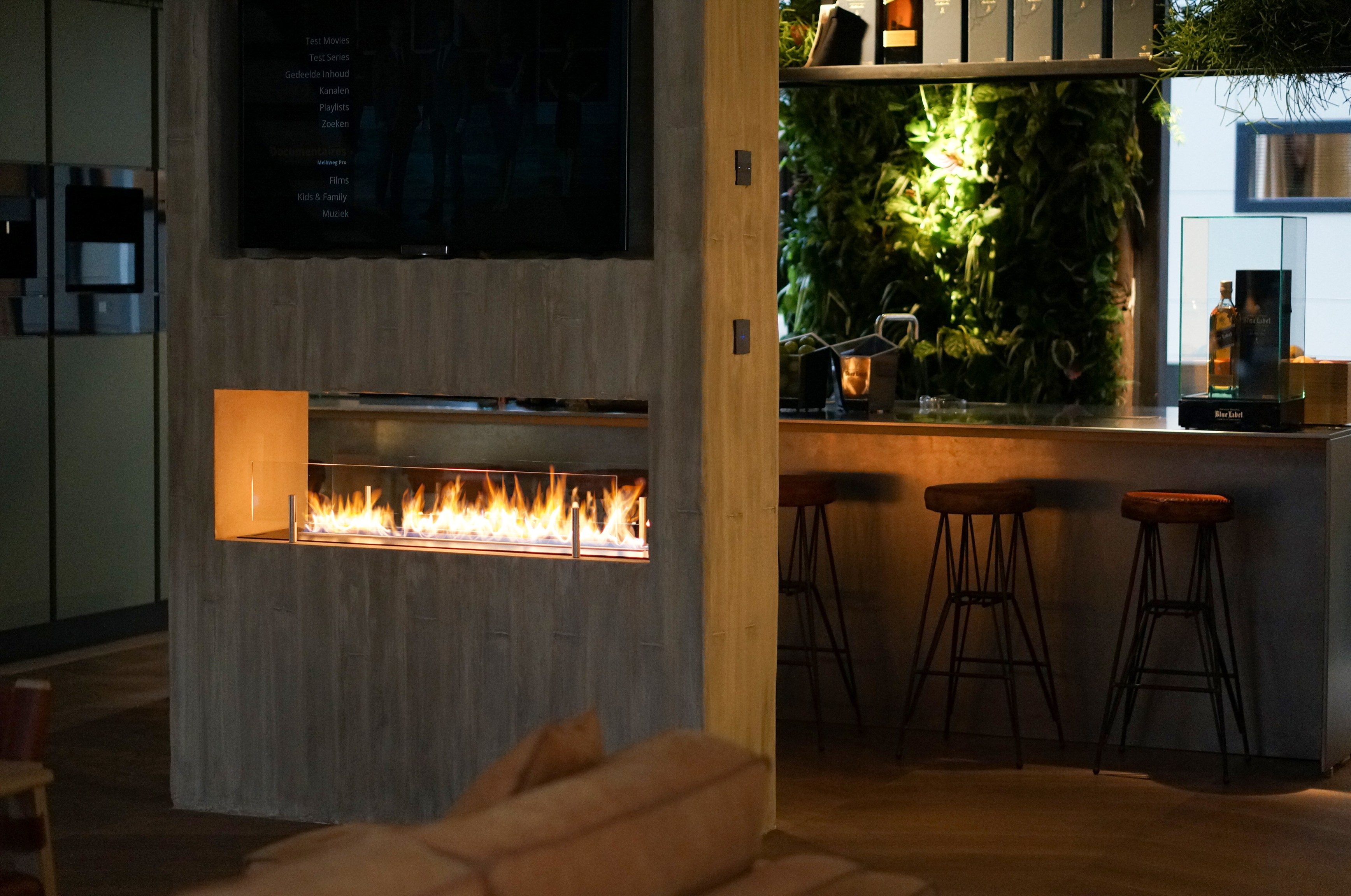 Superb Planika Fireplaces Part - 8: Built-in Fireplace Controlled By Wi-Fi And Remote Control FIRE LINE  AUTOMATIC 3 By Planika