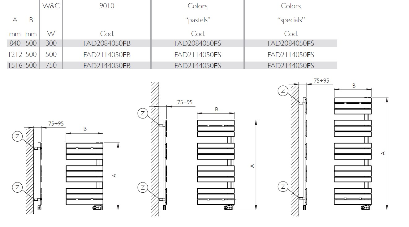 Flag Electric Towel Warmer Warm Collection By Deltacalor Wiring Diagram Dimensions