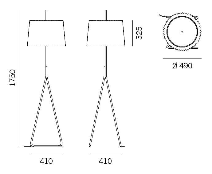 Floor Lamp Fliegenbein Bl By Kalmar Design Garth Roberts