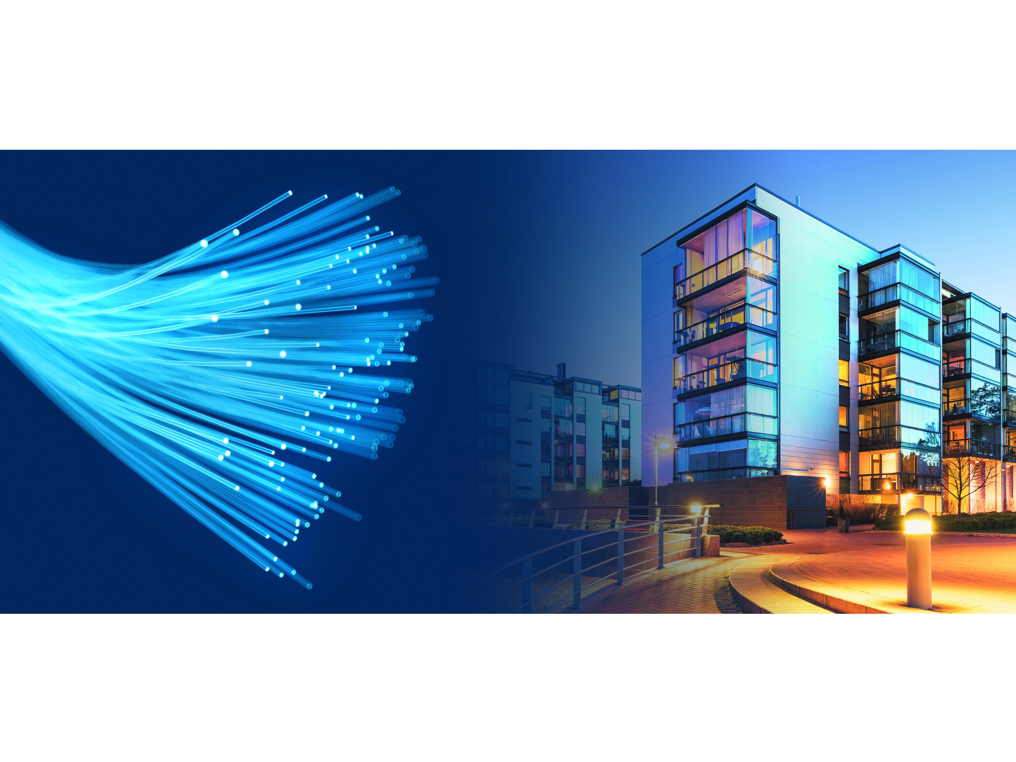 Fibre optic in the residential buildings ftth fiber to the for Architecture ftth