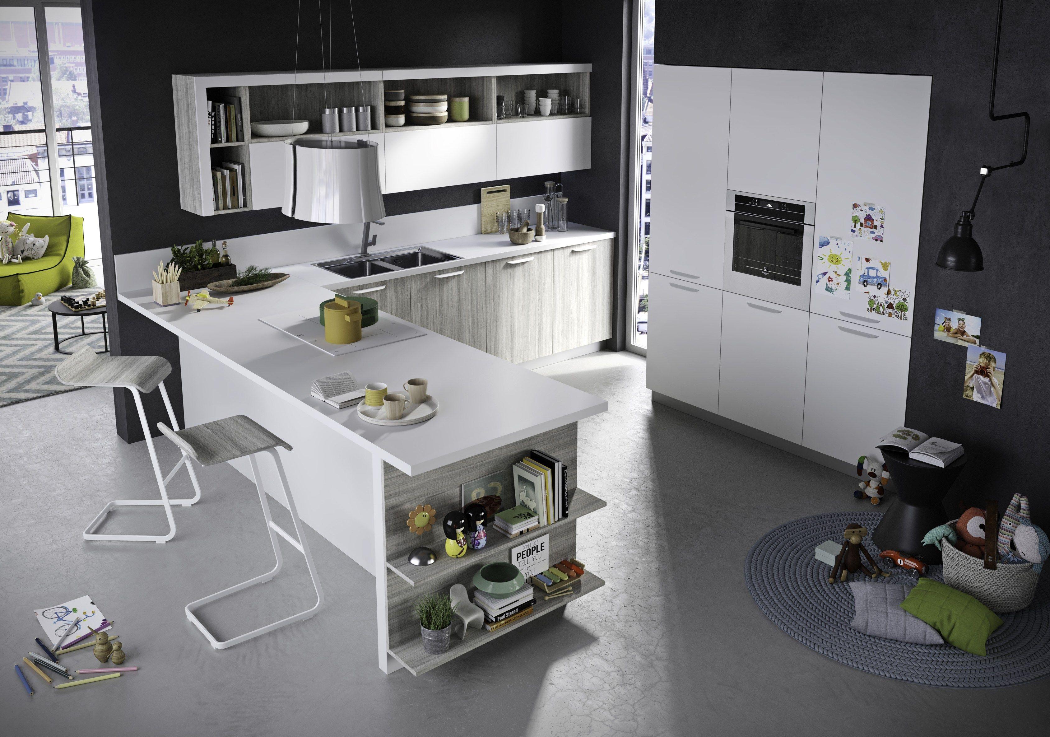 Fun kitchen with peninsula by snaidero - Mobili snaidero catalogo ...